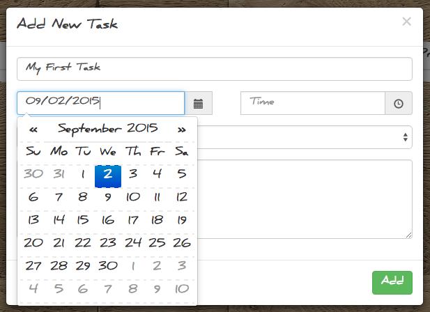 todo list task screen